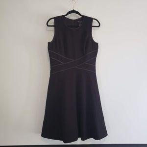 WHBM Sleeveless Iconic Fit & Flare Black Dress 8